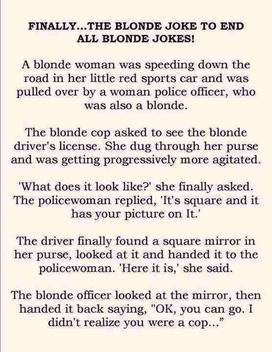 Blondine jokes