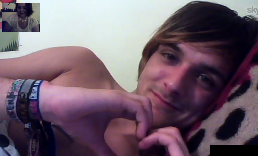 Joey and Smacky on Skype
