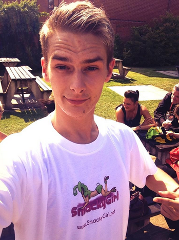 Connor Levi in SmackyGirl T-Shirt