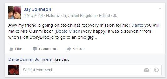 Stolen hat